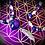 Thumbnail: Collier artisanal pendentif d' Améthyste, perles semi précieuses variées