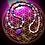 Thumbnail: Collier artisanal pendentif en Mohave purple turquoise et perles semi précieuses