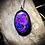 Thumbnail: Collier artisanal en chaîne plaqué argent et Mohave purple turquoise