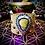 Thumbnail: Bracelet artisanal en cuir et pierre: Agate thunderegg