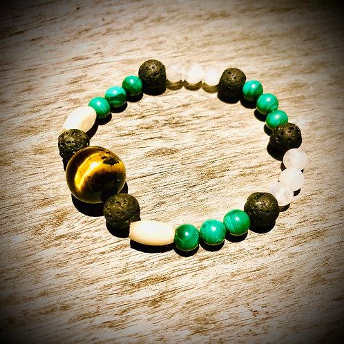 Bracelet artisanal Perles naturelles semi précieuses