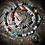 Thumbnail: Collier long pendentif Amonite opalisée, perles variées de pierres naturelles