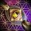 Thumbnail: Bracelet cuir/ tissu holographique avec Oeil de tigre