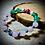 Thumbnail:  Bracelet artisanal pierres semi précieuses : jade, quartz rose , Howlite