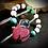 Thumbnail: Bracelet artisanal : RHODONITE , turquoises, Jades, Quartz rose