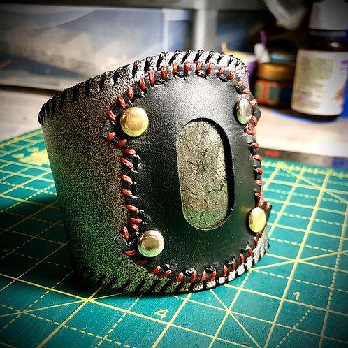 Bracelet Cuir et Marcassite