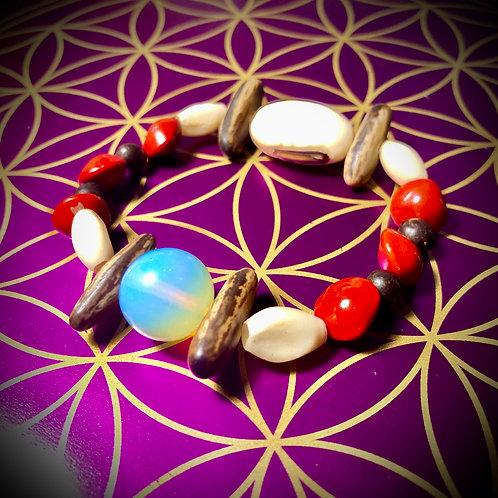 Bracelet artisanal Pierre de lune «amazonie»