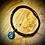 Thumbnail: Bracelet  artisanal en cuir et pierre Mohave oyster turquoise