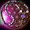 Thumbnail: Collier «mala» en Mohave purple turquoise, perles pierres naturelles variées