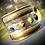 Thumbnail: Bracelet inspiration indou, metal, cuir et pierres semi précieuses