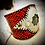 Thumbnail: Bracelet artisanal en cuir et Jaspe Picasso