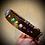Thumbnail: Collier artisanal en cuir, Labradorite, malachites, pierre de lune, lapis lazuli