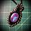 Thumbnail: Collier artisanal en cuir et TURQUOISE MOHAVE