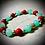 Thumbnail: Bracelet artisanal Jade/ Howlites rouges