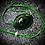 Thumbnail: Collier artisanal en cuir et Seraphinite