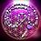 Thumbnail: Collier «mala» pendentif Mohave purple turquoise, perles de pierres variées