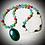 Thumbnail: Collier artisanal «Mala» pendentif Aventurine, pierres naturelles variées