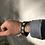 Thumbnail: Bracelet fin artisanal en cuir noir avec Mohave TURQUOISES