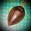 Thumbnail: Collier artisanal en cuir et Obsidienne  céleste
