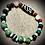Thumbnail: Bracelet perles Malachites /Serpentines /Howlites /Jaspes rouge