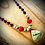 Thumbnail: Collier «Mala» perles semi précieuses variées pendentif Mariposa