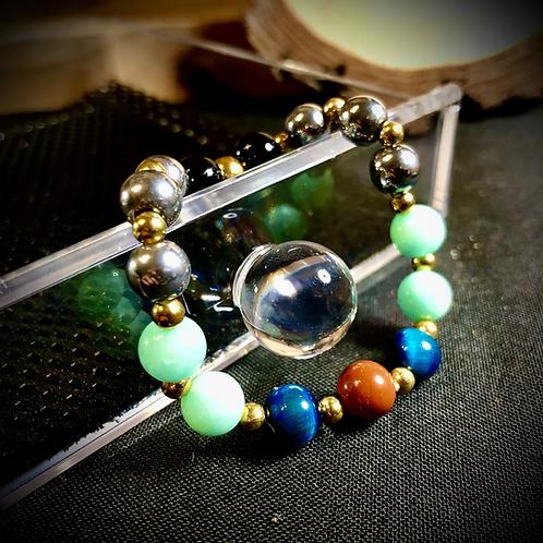 Bracelet artisanal pierres naturelles variées