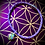 Thumbnail:  Bracelet artisanal en cuir, médaillon Mohave purple turquoise