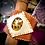 Thumbnail: Bracelet artisanal en cuir camel/ blanc: Jaspe  Léopard