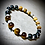 Thumbnail: Bracelet artisanal Oeil de tigre/ Jaspe paysage