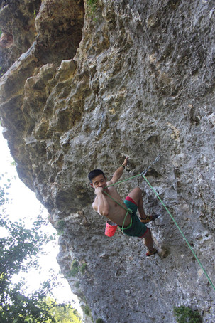 Climbing at Reimer's Ranch State Park