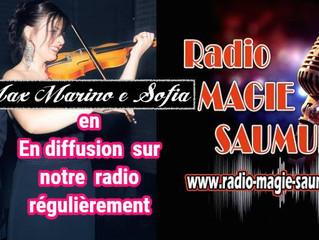 Max Marino & Sofia sur la station de radio française MAGIE SAUMUR --- Max Marino & Sofia sul