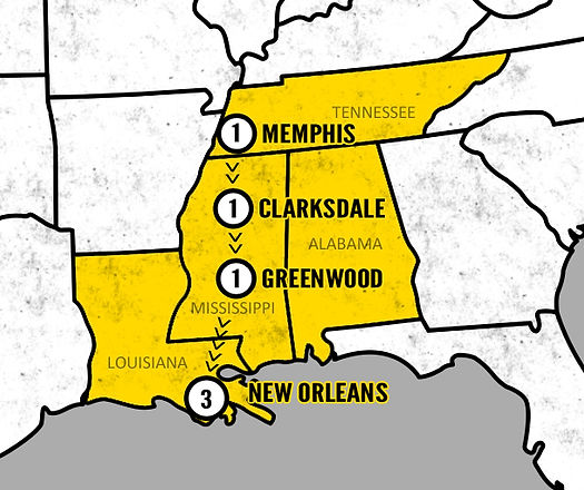 Memphis, New Orleans & The Best of the S