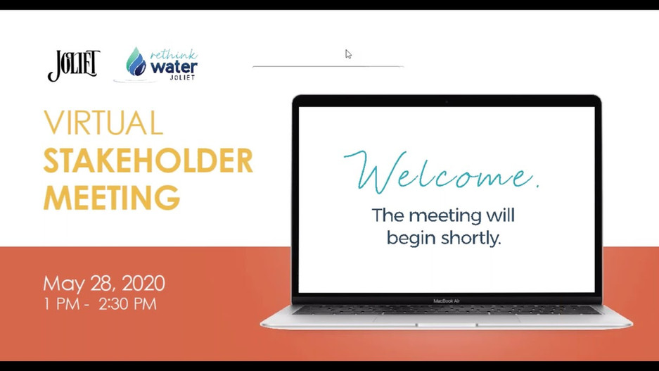 Joliet Water Source Program Stakeholder Meeting - May 28, 2020