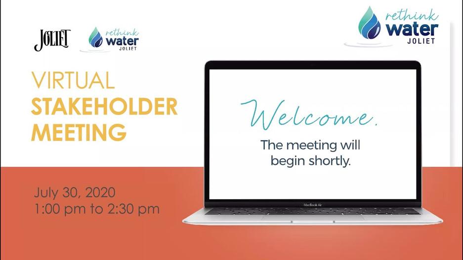 Joliet Water Source Program Stakeholder Meeting - July 30, 2020