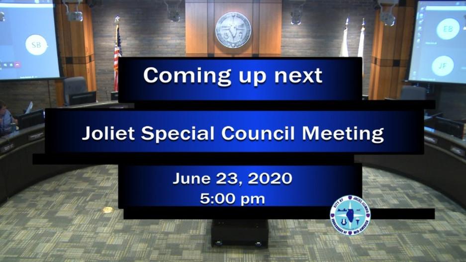 Joliet AWSP City Council Workshop - June 23, 2020