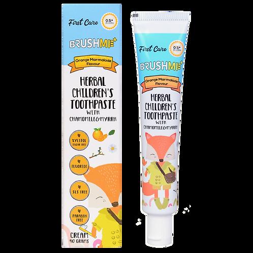 บลัชมี ยาสีฟันผสมสมุนไพรสำหรับเด็ก กลิ่นส้มมาร์มาเลด BrushMe Kid's Toothpaste