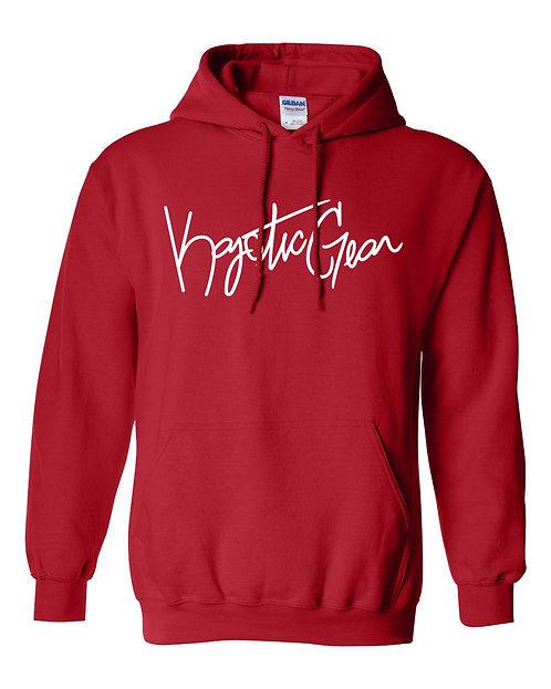 Red Hooded Fleece w/White Font
