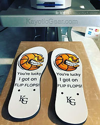 Footware flipflops custom prints