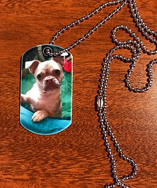 Sublimated dog tag necklace