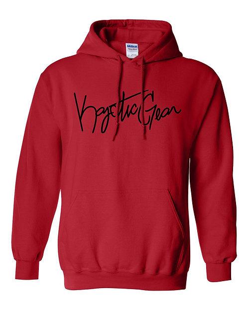 Red Hooded Fleece w/Black Font