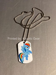 Dog tag sublimation print