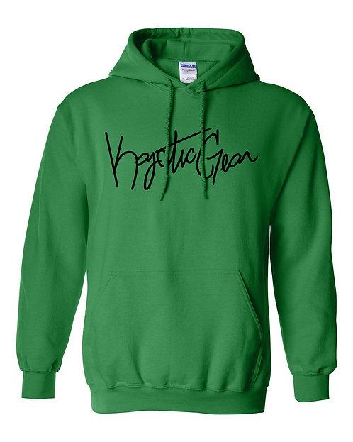Green Hooded Fleece w/Black Font