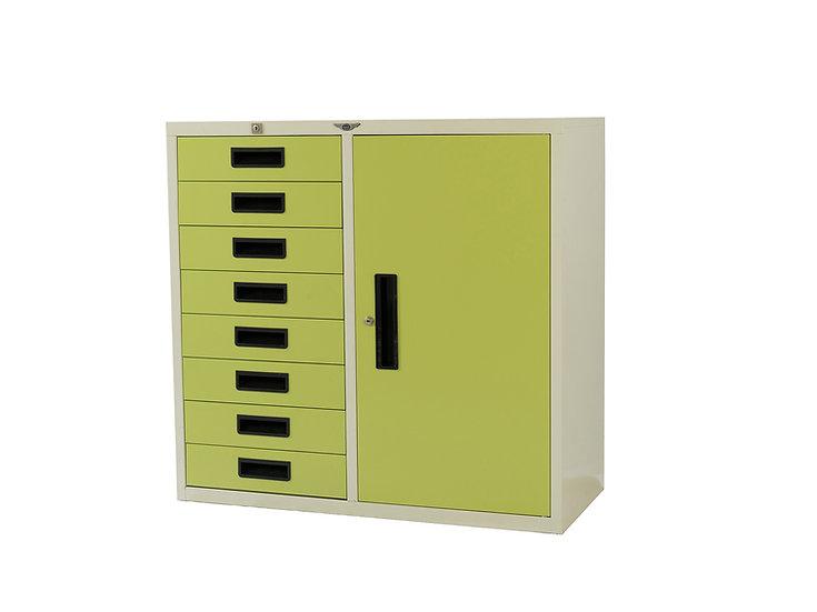 1 Door 8 cabinets
