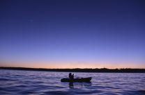 石垣島に沈むサンセット、カヌーから見るグロータイム