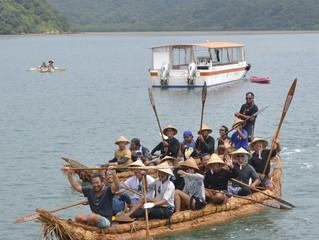 草舟 与那国から西表島に帰島