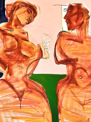 Couple in Burnt Umber