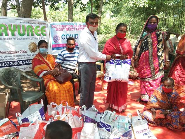 30 families, sabia grass, Chhuruni Raniband, District Mayurbanj, distributed by Mayuree