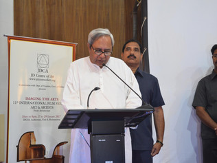 Chief Minister of Odisha, Naveen Patnaik addressing at the 11th Film Festival