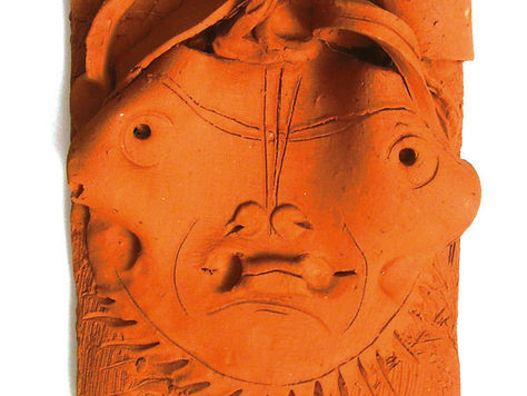Terracotta Head, after fire