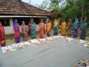 30 families, sabai grass and golden grass, Pakamundi and Sarapunja, District Baleswar, distributed by Adventure